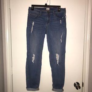 """EUC Sneak Peek cuffed """"boyfriend"""" jeans"""